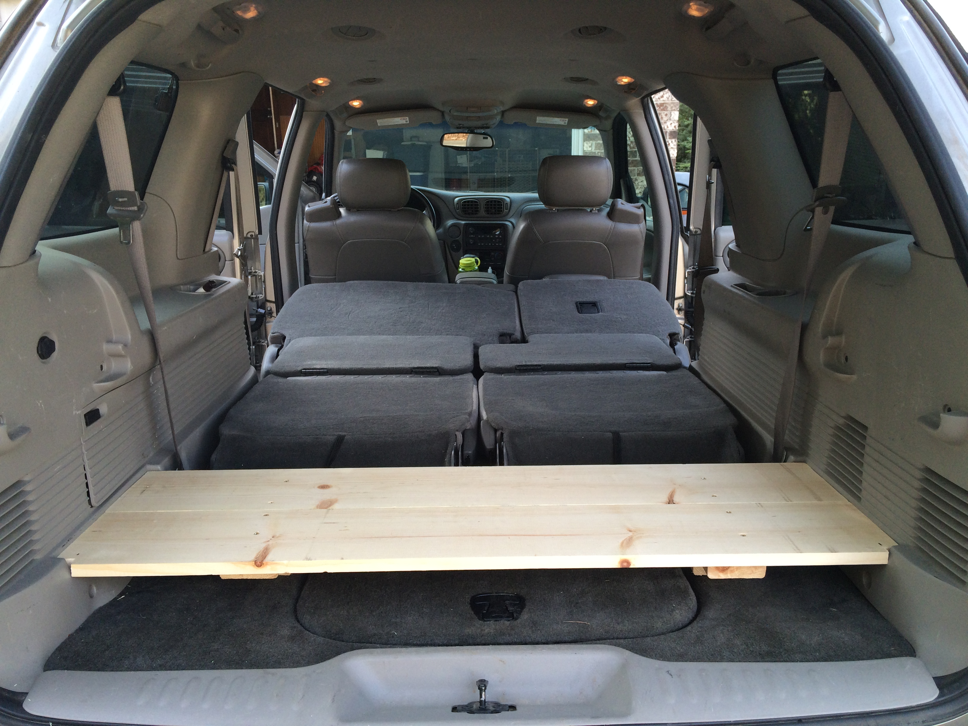 $14 DIY cargo shelf for Chevy Trailblazer - Rob McBryde