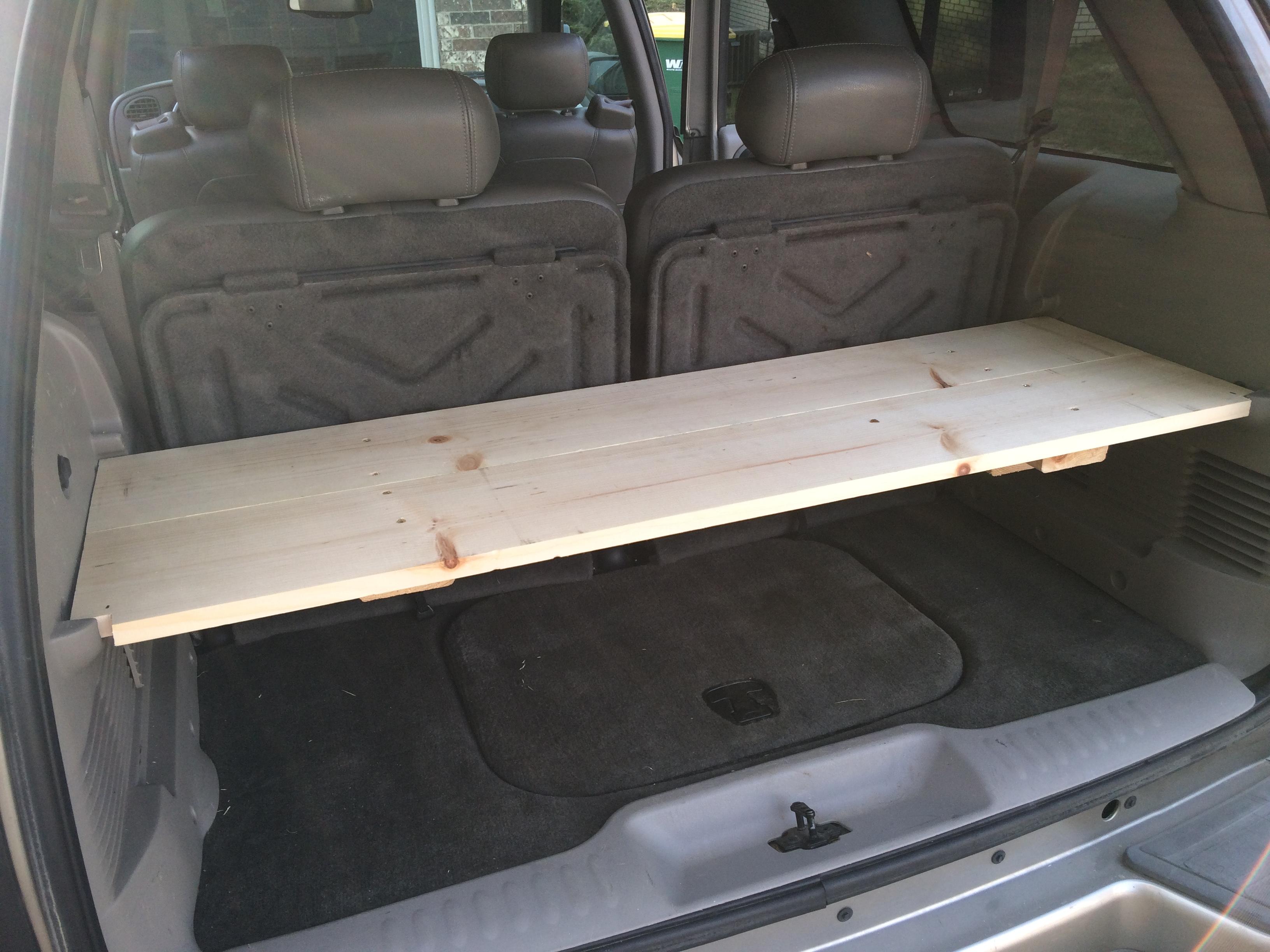 $14 DIY cargo shelf for Chevy Trailblazer - Rob McBryde