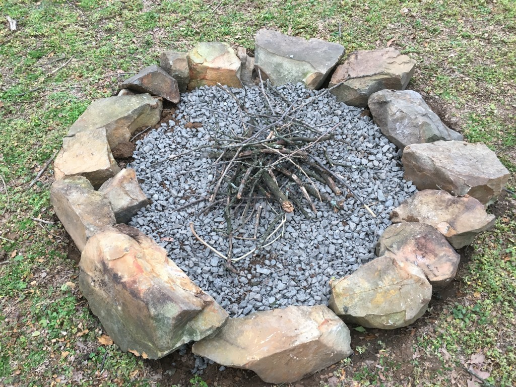 Finished fire pit